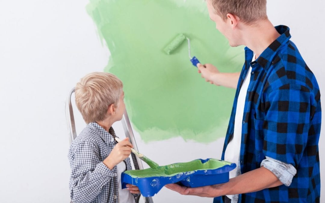 paint your home to spruce up indoor spaces
